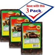 Tamarin Pulp with Seeds. 16 oz Pack of 3