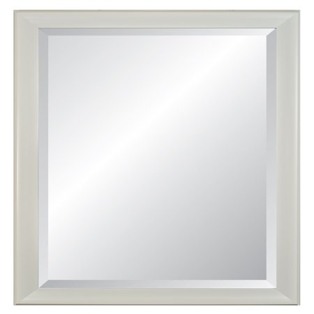 Lakeside White Frame Beveled Wall Mirror 28 X 40 Walmartcom