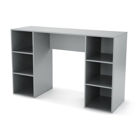 Mainstays 6 Cube Storage Computer Desk, Multiple Colors ()