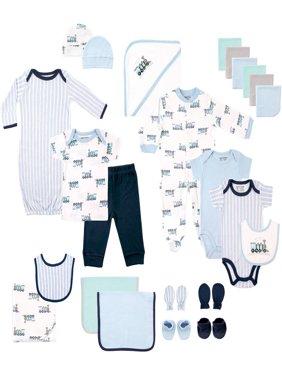 Newborn Baby Boy Deluxe Coordinated Gift Set, 24pc