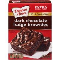 (4 Pack) Duncan Hines Dark Chocolate Fudge Brownies Brownie Mix, 18.2 oz