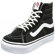 ea173a99626 Vans Unisex Sk8-Hi Slim Black True White Skate Shoe 8.5 Men US