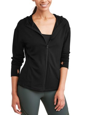 Avia Women's Core Active Full Zip Hoodie with Thumbholes