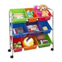 Mobile Toy Storage Organizer, 9-Bins in Fun Colors