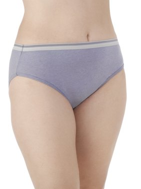 Fit for Me by Fruit of the Loom Women's Plus Heather Cotton Hi-Cut Panties - 5 Pack