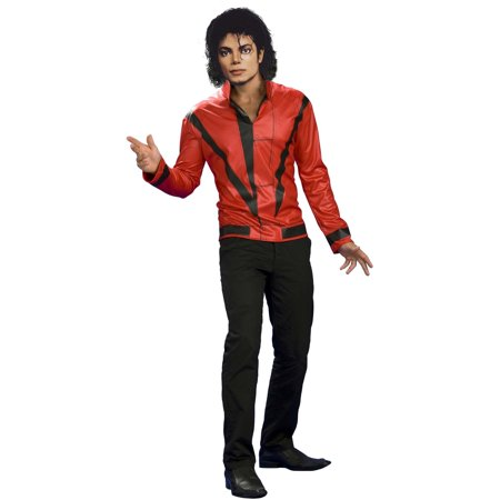 Men's Red Thriller Jacket Michael Jackson Costume - Straight Jacket Costumes