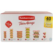 Rubbermaid TakeAlongs Food Storage Containers with Lids, 40-Piece Set