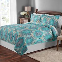 Mainstays Multicolor Paisley Quilt and Sham Collection