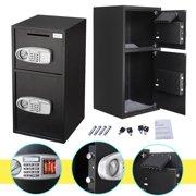 Zeny Large Double Door Digital Deposit Safe Box Cash Jewelry Gun Drop Security Lock Box