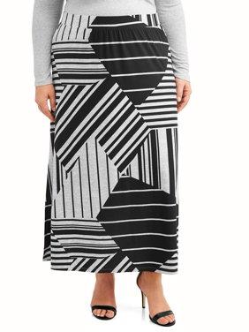 Women's Plus Size Super Soft Knit Maxi Skirt