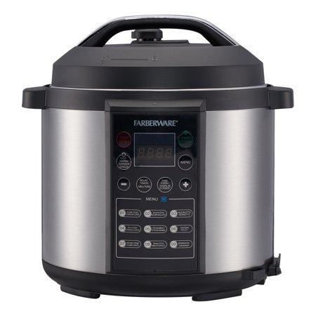 Farberware Programmable Digital Pressure Cooker, 6 Quart ...