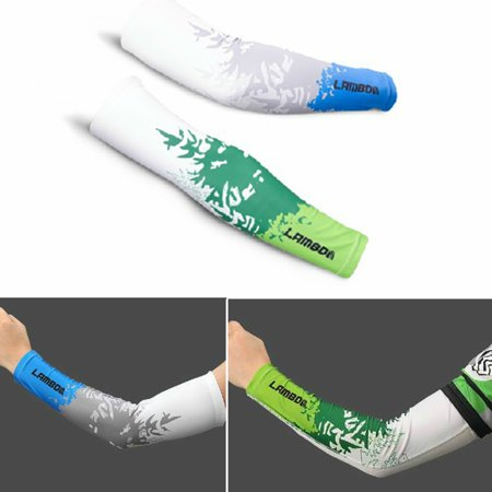 LAMBDA Unisex Sports Arm Sleeves Basketball Cycling Breathable UV Sunscreen Sport Cuff Oversleeve Arm Cover