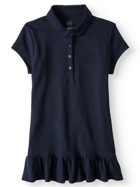Girls School Uniform Ruffle Hem Tunic