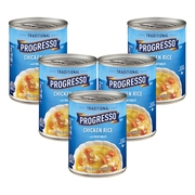 (5 Pack) Progresso Soup Chicken Rice with Vegetables Soup Gluten Free 19 oz