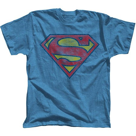 Superman Basic Logo Men's Short Sleeve Graphic T-shirt, up to Size 3XL](Hot Girl In Superman Shirt)