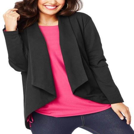 - Plus-Size Women's French Terry Flyaway Cardigan