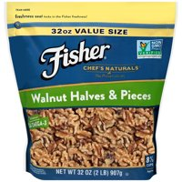 (3 Pack) Fisher Chef's Naturals Walnut Halves & Pieces, 32 oz