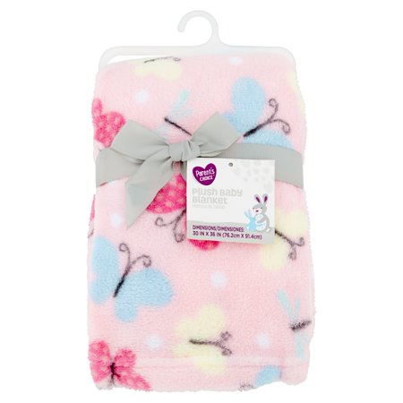 Plush Fleece Baby Blanket (Parent's Choice Plush Baby Blanket, Pink)