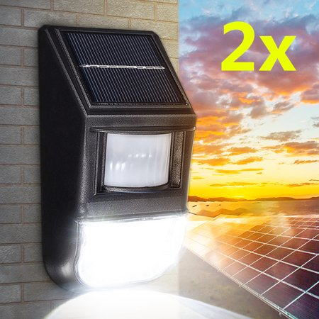 1 Solar Floodlight - 2PCS 50LED Super Bright Waterproof Solar Wall Lights with PIR Motion Sensor, Outdoor Security Flood Night Lights for Garden Back Door Patio Backyard Stairs Landscape