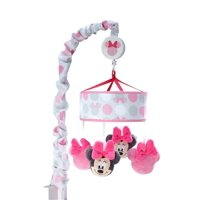 Disney Minnie Mouse Polka Dots Nursery Crib Musical Mobile