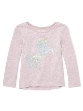 Baby And Toddler Girls Long Sleeve Hi-Low Hem Top