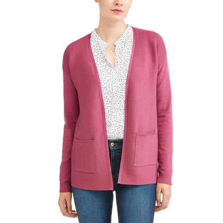 Women's Open Front Cardigan - Extra Long Cardigan