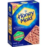 (3 Pack) Nabisco Honey Maid Low Fat Cinnamon Graham Crackers, 14.4 oz