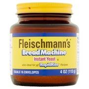 (2 Pack) Fleischmann's Bread Machine Yeast 4 oz