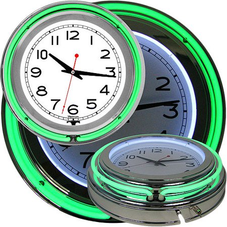 Retro Neon Wall Clock Battery Operated Wall Clock