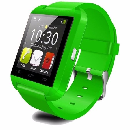 Premium Green Bluetooth Smart Wrist Watch Phone mate for Android Samsung HTC LG Touch Screen Blue Tooth Smart Watch for Kids for Adults Amazingforless U8](Kids Witch)