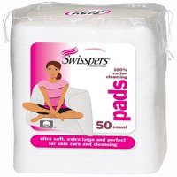 Swisspers Premium Ultra Soft Facial Cleansing Cotton Pads 50 ea