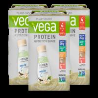 Vega Vegan Protein Shake, Vanilla, 20g Protein, 12 Ct
