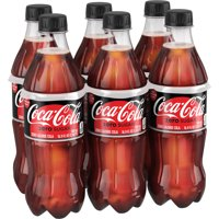 (4 Pack) Coca-Cola Zero Sugar Soda, 16.9 Fl Oz, 6 Count