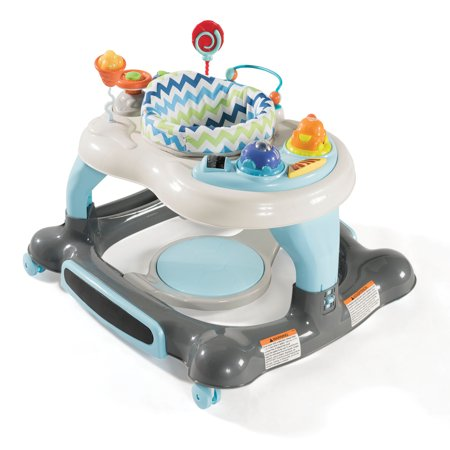 Storkcraft 3-in-1 Activity Walker and Rocker with Jumping Board Blue/Gray](Stork With Baby)