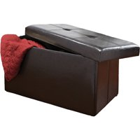 Simplify Double Folding Ottoman, Black