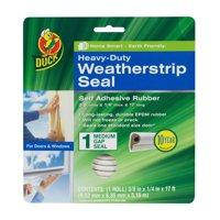 Duck Brand Heavy-Duty Weatherstrip Seal for Medium Gaps, .38 in. x .25 in. x 17 ft.