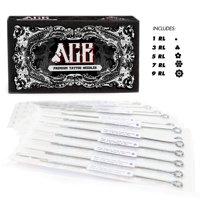 ACE Needles 50 Mixed Assorted Tattoo Needles 6 Sizes - Round Liner 1 3 5 7 9 11 RL