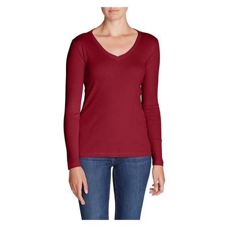 Eddie Bauer Bear - Eddie Bauer Women's Favorite Long-Sleeve V-Neck T-Shirt