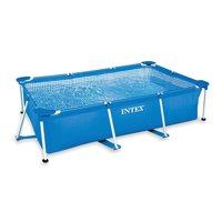 Intex 8.5' x 5.3' x 2.13' Rectangular Frame Above Ground Backyard Swimming Pool