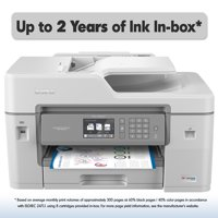 "Brother MFC-J6545DW XL Extended Print INKvestment Tank Color Inkjet All-in-One Wireless Printer with 11"" x 17"" Scan Glass and Up to 2-Years of Ink In-box"