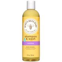 Burt's Bees Baby Shampoo & Wash, Calming Tear Free Baby Soap - 12 oz Bottle
