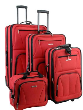 Rockland Luggage Journey 4 Piece Softside Expandable Luggage Set F32