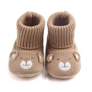 Kacakid Winter Infant Baby Girls Boys Unisex Super Warm Soft Soled Cute Knitted Shoes Boots First Walkers