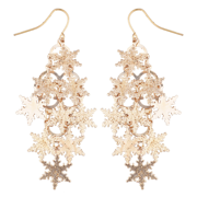 2de372a6c Lux Accessories Rose Goldtone Christmas Snowflake Waterfall Chandelier  Earrings