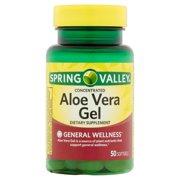 Spring Valley Aloe Vera Softgels, 25 mg, 50 Ct