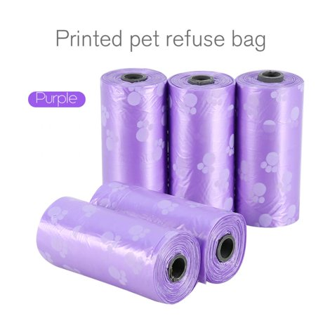 Lv. life 5-20 Roll Pet Waste Bags Handle Dog Cat Pick Up Poop Clean Up Refill Rubbish Bag, Refill Rubbish Bag,Waste Bags