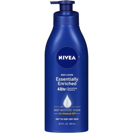 NIVEA Essentially Enriched Body Lotion 16.9 fl. oz. Body Lotion Cherry Almond