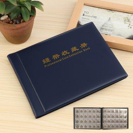 Collecting 240 Coins Storage Holder Money Penny Album Book Pockets 21x16cm