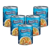 (5 Pack) Progresso Traditional Hearty Chicken and Rotini Soup, 19 oz