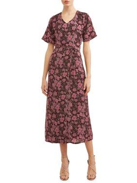 Women's Flutter Sleeve Wrap Dress